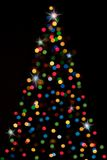 Christmas-tree with lights royalty free illustration
