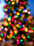Christmas tree lights. Colorful out of focus Christmas tree lights blurred stock photography