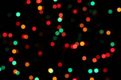 Christmas Tree Lights. This is a closeup shot of christmas tree light, out of focus Stock Image