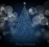 Christmas tree with lights.  Royalty Free Stock Photos