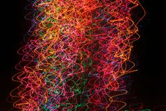 Christmas tree lights. Moving lens photo of christmas tree lights stock photos