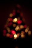 Christmas Tree Lights. Out of focus Christmas Tree red and gold lights Stock Photography