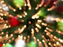Christmas Tree Lights Abstract Background Stock Images