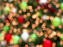 Christmas Tree Lights Abstract Background Stock Image