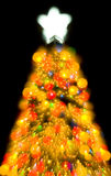 Christmas tree lights abstract color santa. Abstract Christmas tree decoration with colorful lights at Christmas Eve Royalty Free Stock Photos