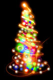 Christmas tree from the lights Royalty Free Stock Photo