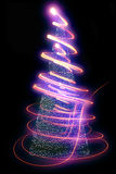 Christmas tree from the lights Stock Photos