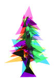 Christmas tree from the lights Stock Photography