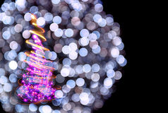Christmas tree from the lights Royalty Free Stock Images
