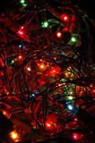 Christmas tree lights background Stock Photos