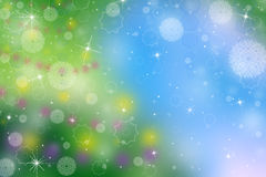 Christmas tree lights background Stock Images