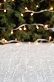 Christmas tree with lights in the background blur on the festive Royalty Free Stock Photography