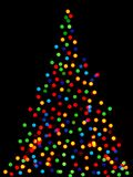 Christmas tree lights Royalty Free Stock Photography