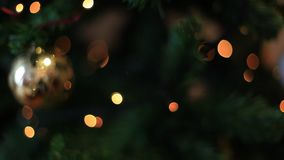 Christmas Tree lights background effect. Focus to blur stock footage