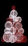 Christmas tree of lights Stock Image