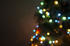 Christmas tree lights on black Stock Images