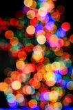 Christmas Tree Lights blur Royalty Free Stock Images