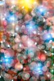 Christmas tree lights bokeh Royalty Free Stock Image