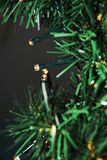 Christmas tree and lights, close up Stock Photography