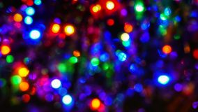 Christmas tree lights. Colorful Christmas tree lights blurred Royalty Free Stock Photos