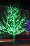 Christmas tree lights Stock Images