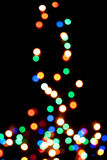 Christmas tree with the lights defocused Royalty Free Stock Image