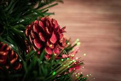Christmas tree with lights royalty free stock photos