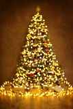 Christmas Tree Lights, Defocused Blurred Xmas Abstract Lighting royalty free stock photos