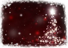 Christmas tree lights formed from stars background red snow. Christmas tree lights formed from stars background blue Royalty Free Stock Images