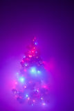 Christmas tree lights garland in frozen mist Stock Photography