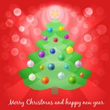Christmas tree in lights Stock Photography