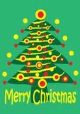 Christmas Tree. With christmas lights illustration Stock Photos