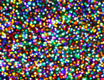 Christmas Tree Lights Night Multicolored Bokeh Background Stock Photography