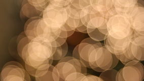 Christmas Tree Lights with Ornaments Bokeh Background stock video