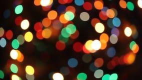 Christmas tree lights stock video footage