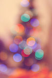 Christmas Tree Lights out of focus Royalty Free Stock Photos