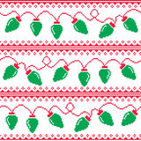 Christmas tree lights seamless pattern, ugly Christmas sweater style royalty free illustration