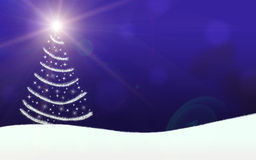 Christmas tree lights stars lightning sparkling Stock Photography