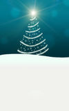 Christmas tree lights stars lightning sparkling. Turquoise Stock Photography