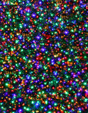 Christmas Tree Lights Stars Night Multicolored Background Stock Photography