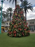 Christmas Tree Lincoln Road Mall, South Beach Miami. Florida daytime Stock Photo
