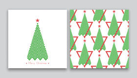 Christmas tree in line art 03. Christmas tree in line art and pattern, diferent stile, for postcard, poster, gifts Vector Illustration
