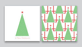 Christmas tree in line art 01 Royalty Free Stock Photography