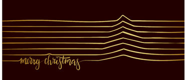 Christmas Tree of the Line. Merry Christmas. Christmas Tree of the Line. Merry Christmas Typographic Design. Calligraphy vector illustration