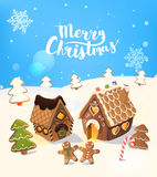christmas tree, and little men, Vector. Stock Images