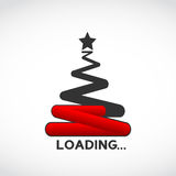 Christmas tree loading concept. Abstract background vector illustration