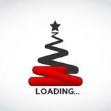 Christmas tree loading concept Stock Photos