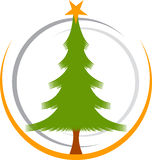 Christmas tree logo Royalty Free Stock Images
