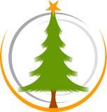 Christmas tree logo Royalty Free Stock Images
