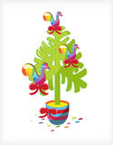 Christmas tree lollipop cocks Royalty Free Stock Photography